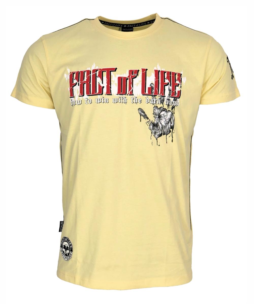 "Fact of Life T-Shirt ""Dark Hand"" TS-27 pale banana"