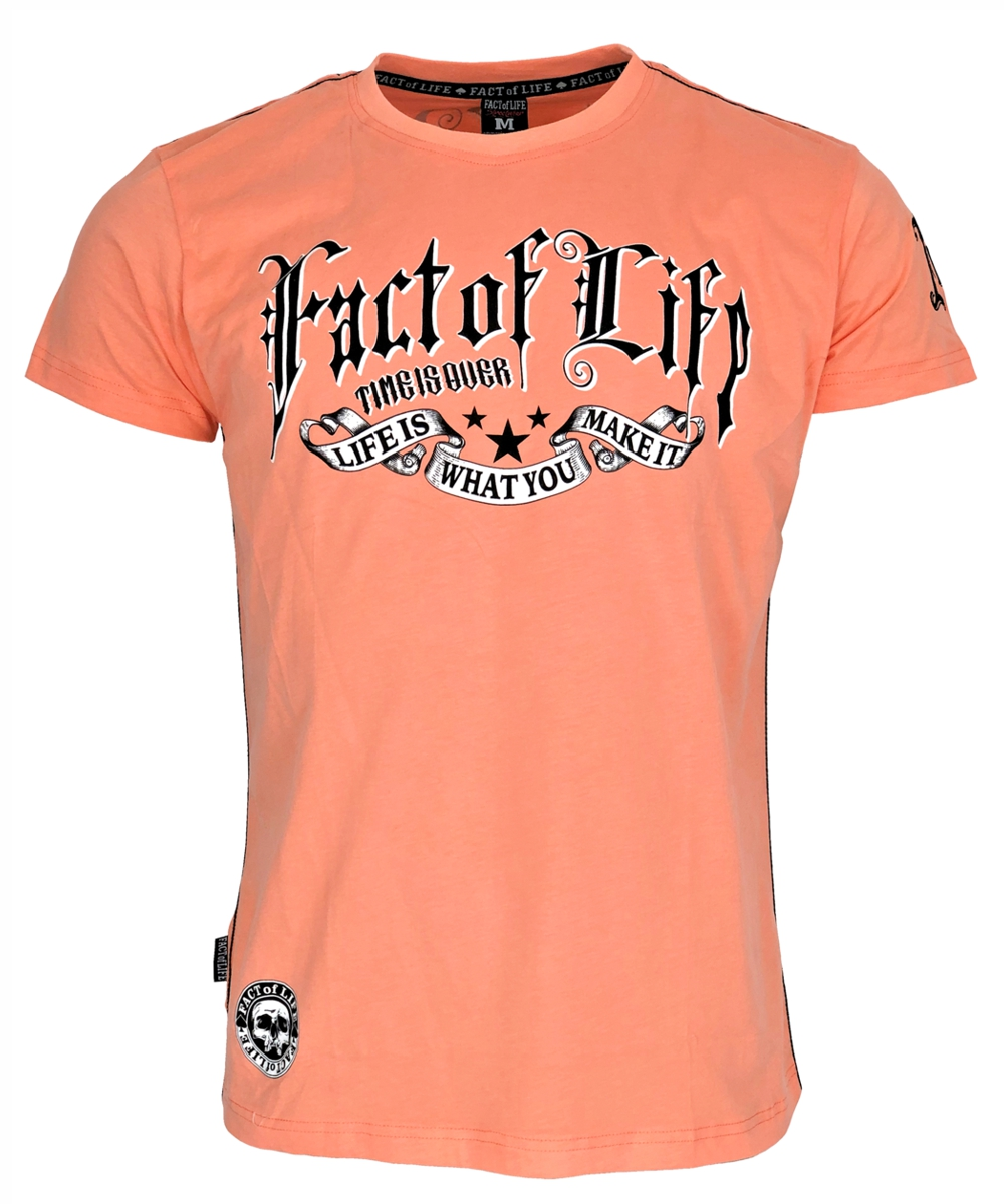 """Fact of Life T-Shirt """"Time is Over"""" TS-37 papaya punch"""