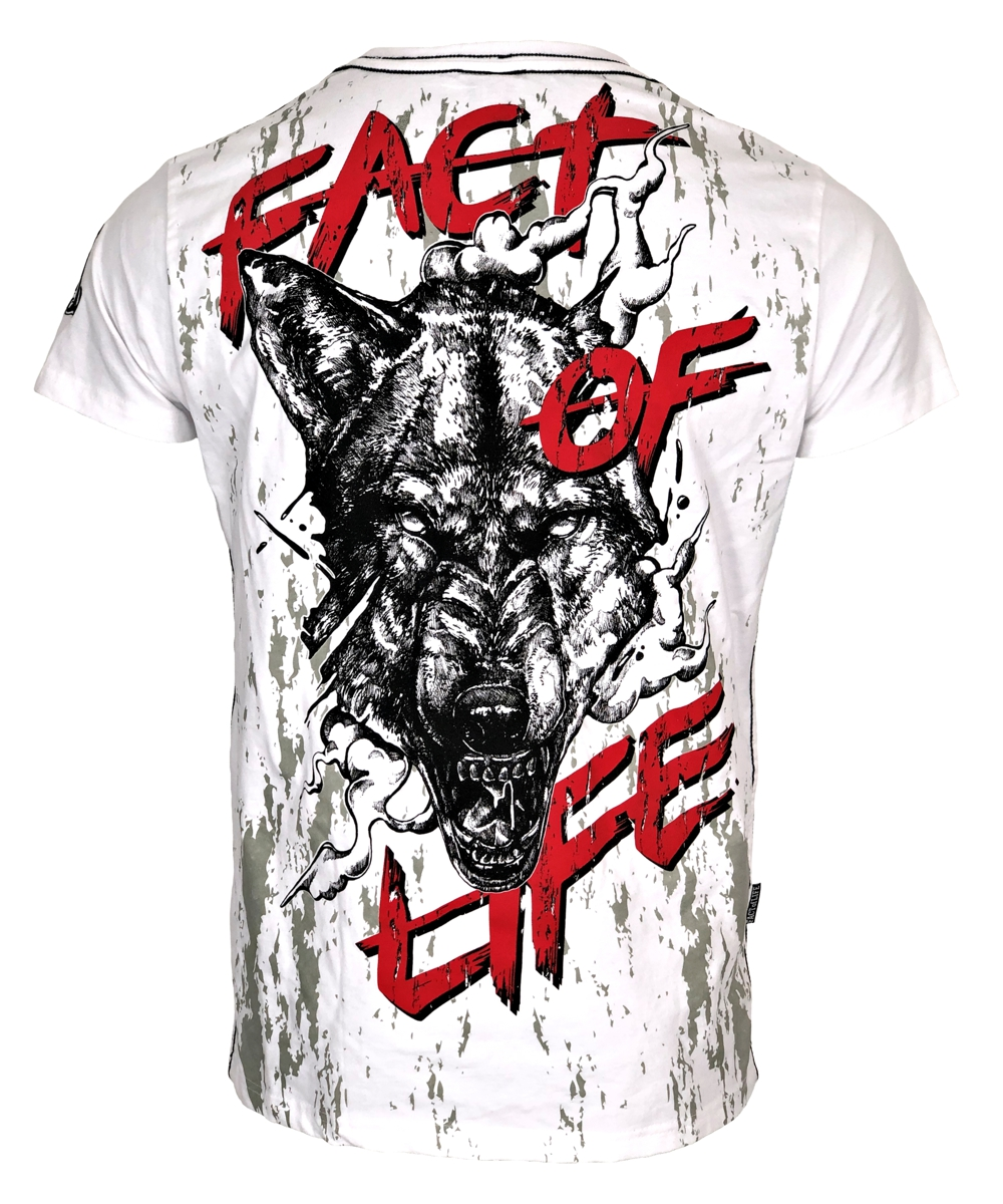 """Fact of Life T-Shirt """"Wolf Claw"""" TS-42 weiß"""
