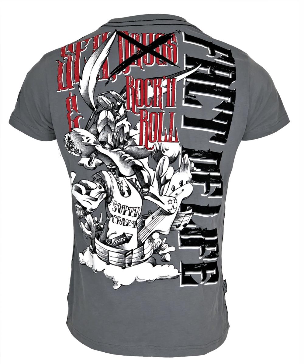 "Fact of Life T-Shirt ""Super Crazy"" TS-43 frost grey"