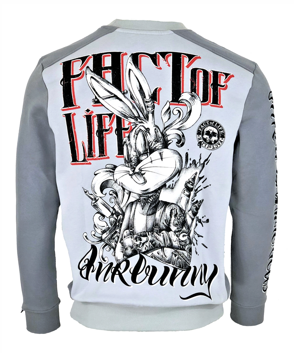 """Fact of Life Herren Sweat """"Inkbunny"""" SP-01 light/ frost grey"""