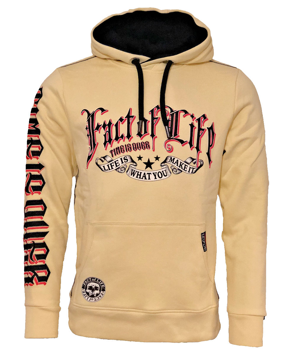 """Fact of Life Hoodie """"Time is Over"""" SH-08 pale banana"""
