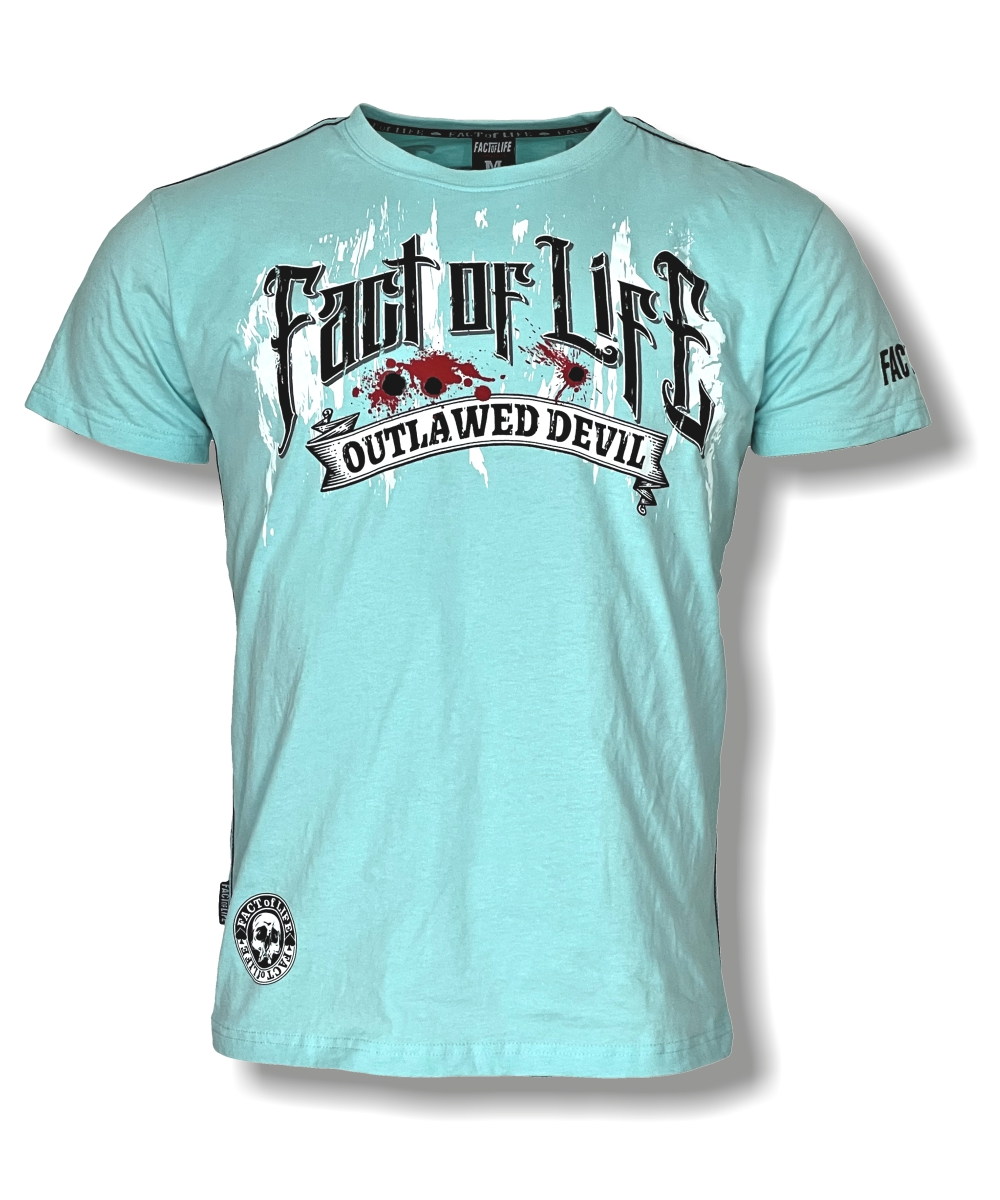 """Fact of Life T-Shirt """"Outlawed"""" TS-47 turquoise"""