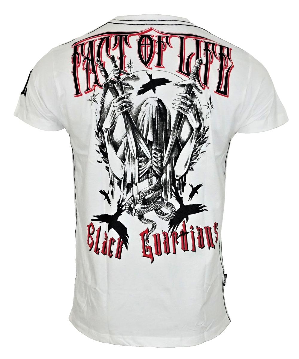 "Fact of Life T-Shirt ""Crow"" TS-26 weiß"