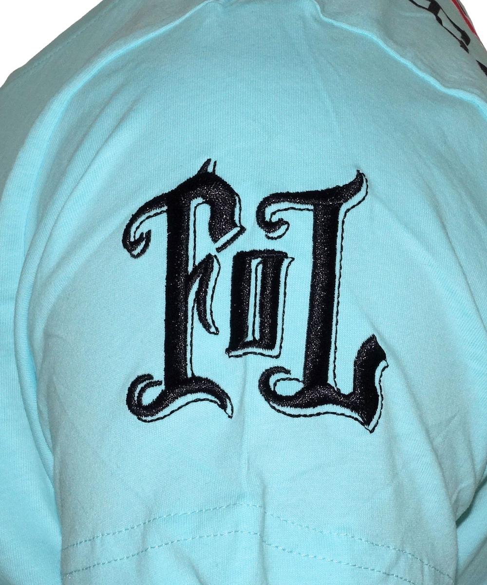 """Fact of Life T-Shirt """"Pik-Ass"""" TS-31 turquoise"""