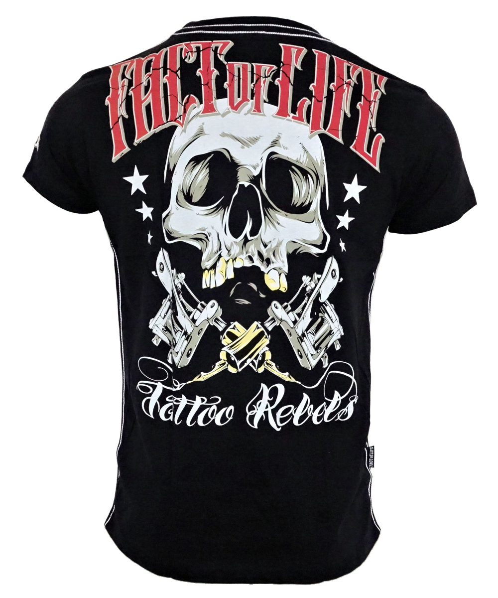 "Fact of Life T-Shirt ""Tattoo Rebels"" TS-32 black"