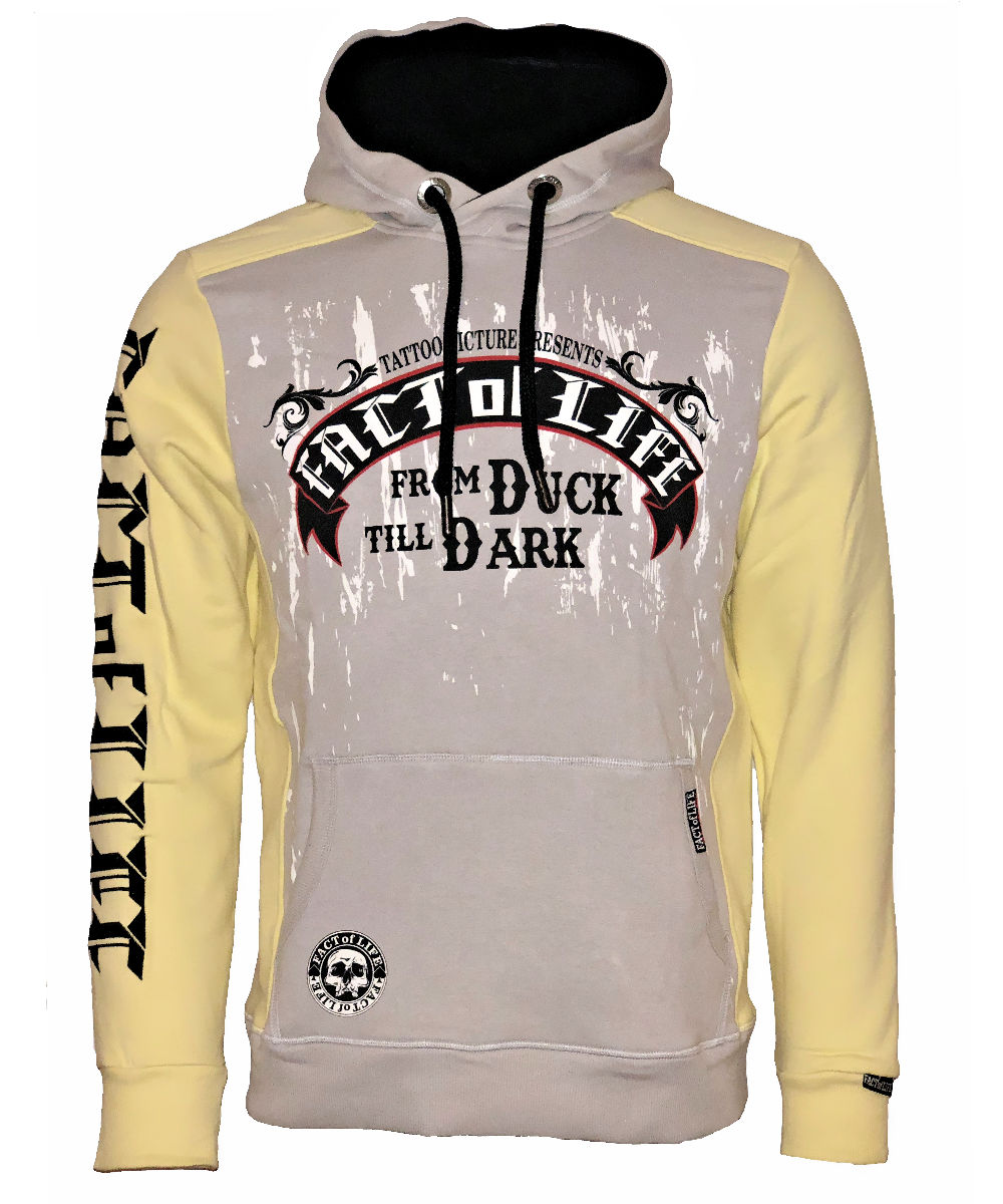 """Fact of Life Hoodie """"From Duck Till Dark"""" SH-07 pale banana"""