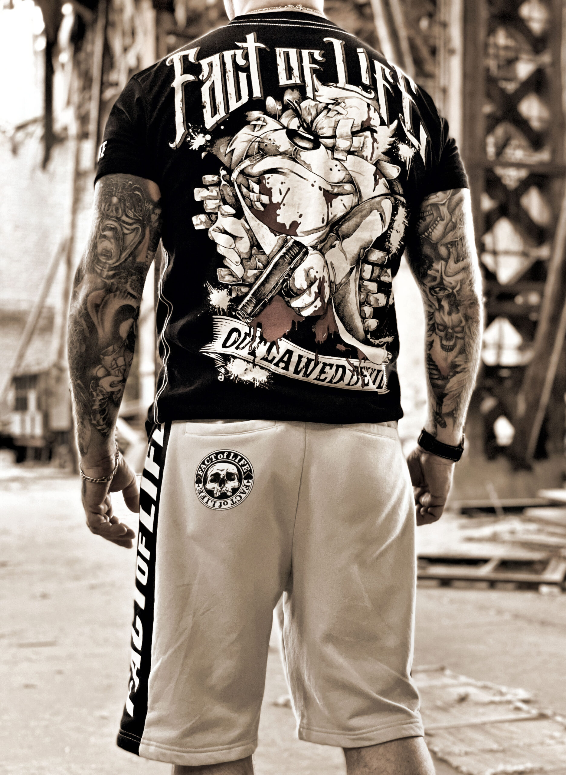 """Fact of Life T-Shirt """"Outlawed"""" TS-47 black"""