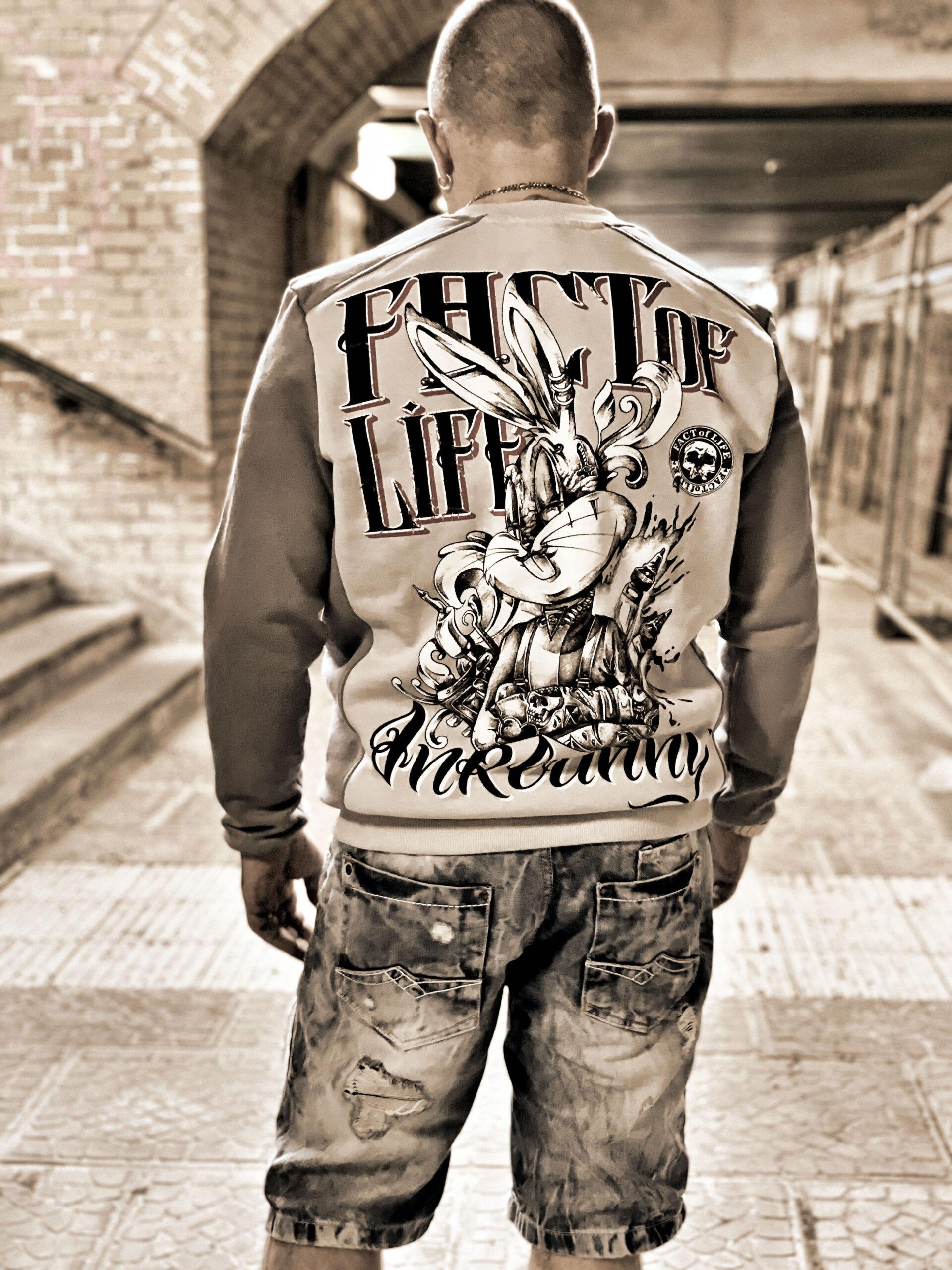 Fact of Life Herren Sweat Inkbunny SP-01 light frost grey 2